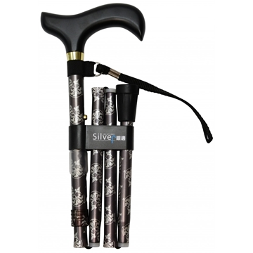 圖片 銀適 四段摺合式拐杖 (多色/款式可選)