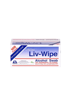 Picture of Livingstone - Liv-Wipe Mini Alcohol Swabs, 70% (65 x 30mm) 100pcs