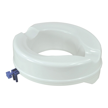 """Picture of Aidapt Senator Ergonomically Designed ABS Plastic Raised Toilet Seat 2""""/4"""" (With OR Without Lid)"""