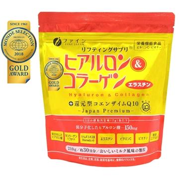 Picture of Fine Japan Hyaluron & Collagen + Ubiquinol (Refill Type) 210g