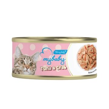 图片 MyBaby 吞拿魚 & 白飯魚 - 貓濕糧 85g