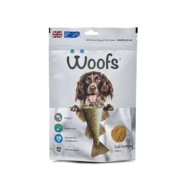 Picture of Woofs Cod Cookies Treat for Dogs 150g