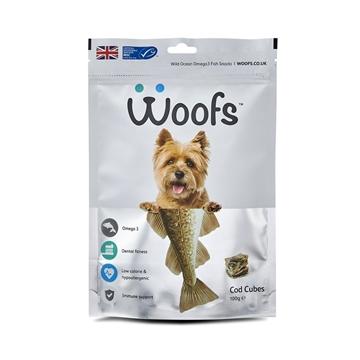 圖片 Woofs 英國狗狗鱈魚粒粒 100g