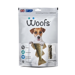 Woofs Cod Fingers Treat for Dogs 100g