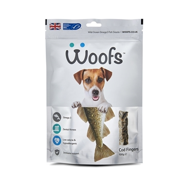 Picture of Woofs Cod Fingers Treat for Dogs 100g