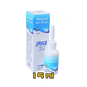 Picture of PetVet  PV-E Natural Ear Drops for Dog & Cat 15ml