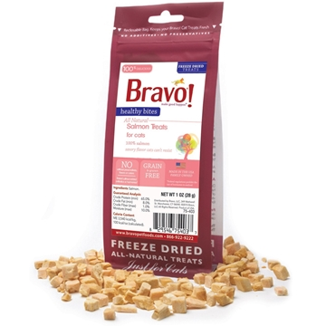 Picture of Bravo Healthy Bites Salmon Treats For Cats 28g