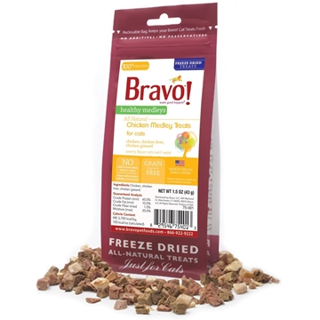 Picture of Bravo Healthy Medley Chicken Treats For Cats 43g
