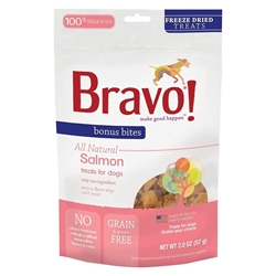 Bravo Bonus Bites® Freeze Dried Salmon Treats For Dogs 57g