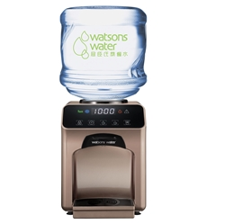 Watsons Household Water Dispenser-Wats-Touch Hot and Cold Water Dispenser + 12L Household Distilled Water x 10 Bottles (Electronic Water Voucher)