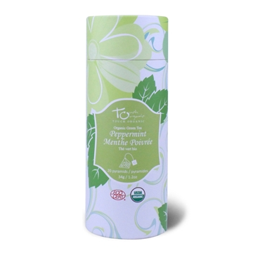 Picture of Touch Organic Organic Passion Fruit White Tea / Mint Green Tea Triangle Tea Bags 20 bags