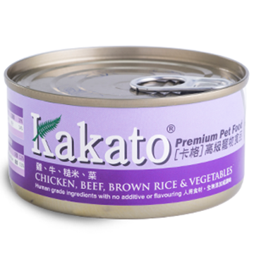 Picture of Kakato Chicken, Beef, Brown rice & Vegetables 70g/170g
