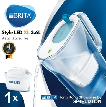 Picture of BRITA Style XL 3.6L Water Jug LED Blue / Lime
