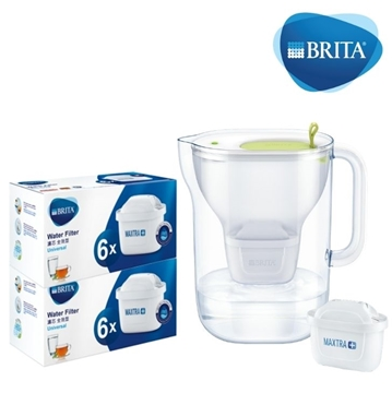 Picture of BRITA Style XL 3.6L LED Water Jug With Pack 12 Filter - Lime