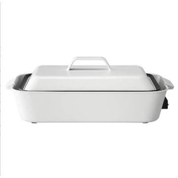 图片 正负零XKH-E010 多功能料理锅白色黑色