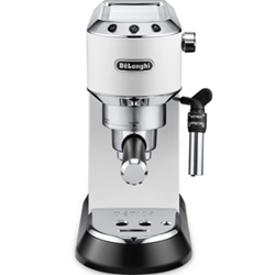 Delonghi EC685 semi-automatic coffee machine black red white metal gray