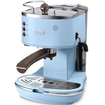 圖片 Delonghi 迪朗奇 Icona Vintage ECOV311 1.4L 半自動咖啡機 米色 黑色 天藍色 綠色