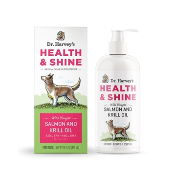 Picture of Dr Harvey's Health & Shine Salmon and Krill Oil 473ml