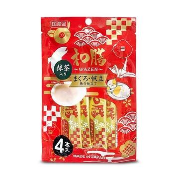 圖片 日本和膳 抹茶吞拿魚醬貓小食 14g x 4本