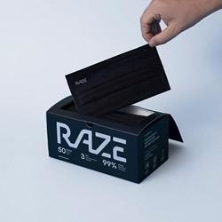Raze 3ply Antibacterial Masks (2D Large) (30pcs)