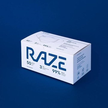 圖片 Raze 3層 光觸媒抗菌口罩 中童裝 (30片 - 獨立包裝)