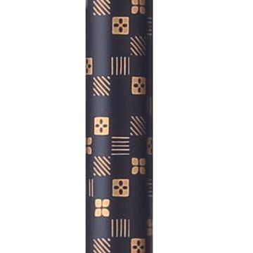 图片 日本Fuji Home 富士家吸盘型底塞花纹拐杖市松黑
