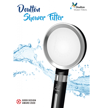 Picture of Doulton Dalton M12 series DCP203 + BTU2501 and FRC9B04 + shower filter shower double filter above countertop water filter