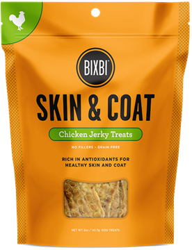 Picture of Bixbi Hip & Joint / Skin & Coat Chicken / Salmon Jerky Treats & Chew For Dogs
