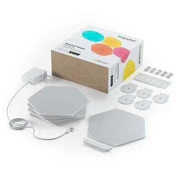 Picture of Nanoleaf Shapes Hexagons Smarter Kit Smart assembly lighting 5 hexagonal light panels Smarter Kit