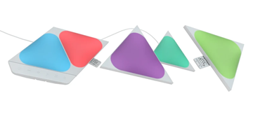 图片 Nanoleaf Shapes Mini Triangle Smarter Kit 智能拼装照明灯5个小型三角形灯板
