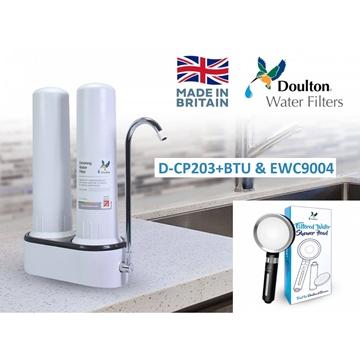 图片 Doulton 道尔顿M12 系列DCP203 + BTU2501及EWC9004 + 沐浴过滤花洒双滤芯台上式滤水器