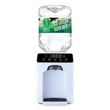 圖片 屈臣氏 家居水機 - Wats-Touch Mini 溫熱水機 (白色) + 8公升樽裝蒸餾水 x 4樽 (2樽x2箱) (電子水券)
