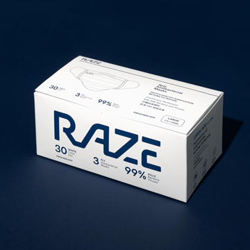 圖片 RAZE 3層光觸媒抗菌口罩 中碼 (30片 - 獨立包裝)