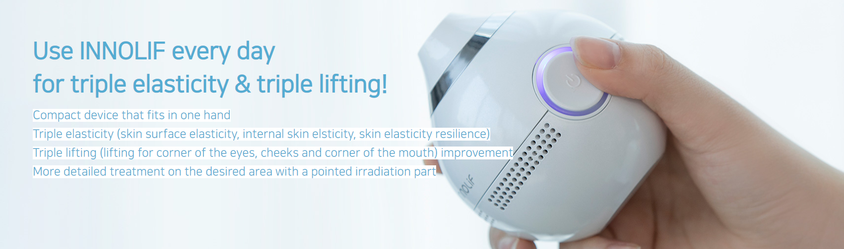 Use INNOLIF every day for triple elasticity & lifting!