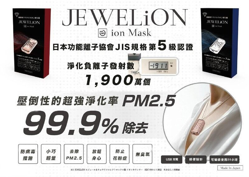 Jewelion Ion Mask has an overwhelming super purification rate